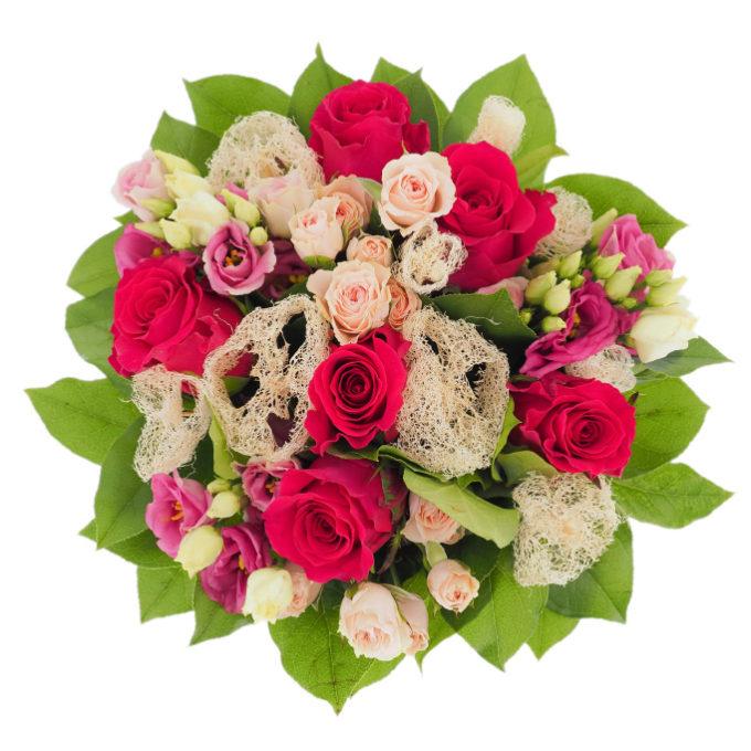 Elixir - buchet de flori cu trandafiri și lufa