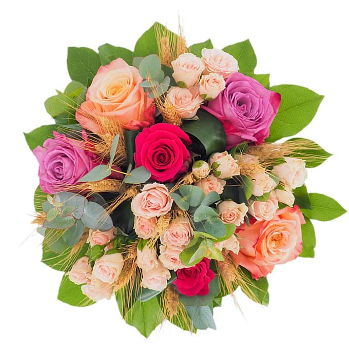 Buchet cu trandafiri și minirosa