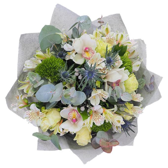 Buchet de flori alb business