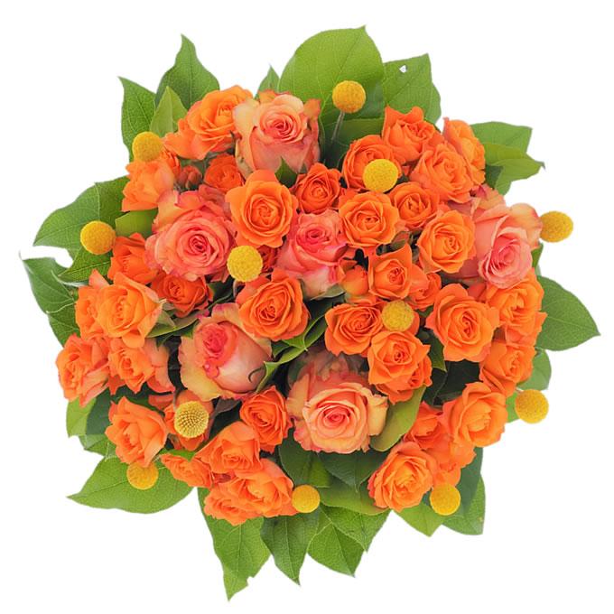Buchet cu flori portocalii