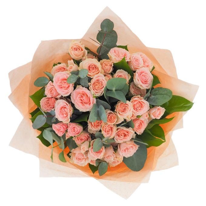 Buchet cu 9 minirosa roz