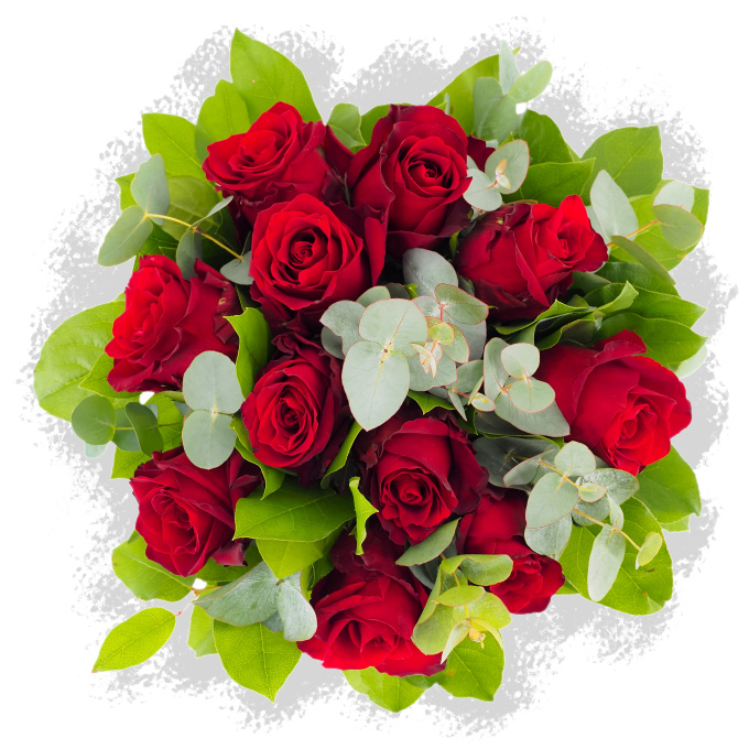Buchet cu 11 trandafiri roșii