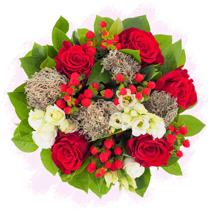 Buchet de flori cu licheni